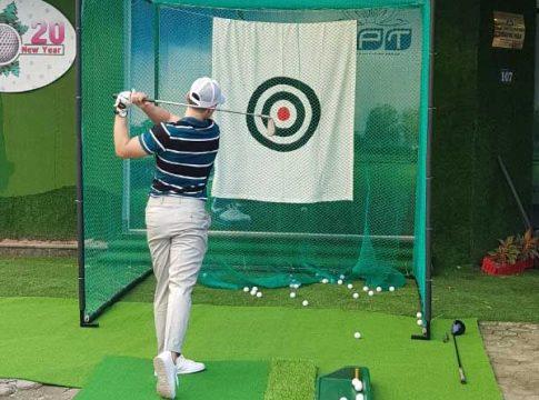 Khung lưới tập golf Gomik52 ảnh thật