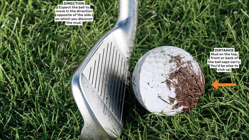 Phải làm sao khi bóng golf bị dính bùn