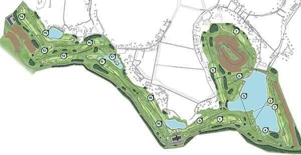 sơ đồ tổng thế sân golf yên dũng