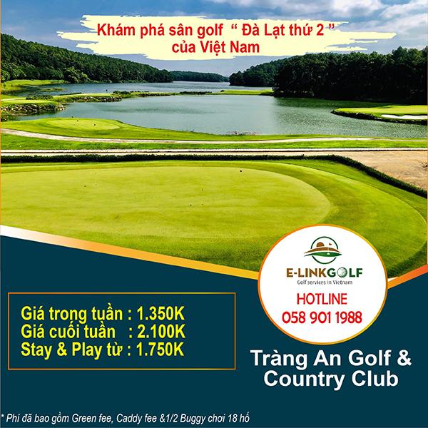 bảng giá sân golf tràng an