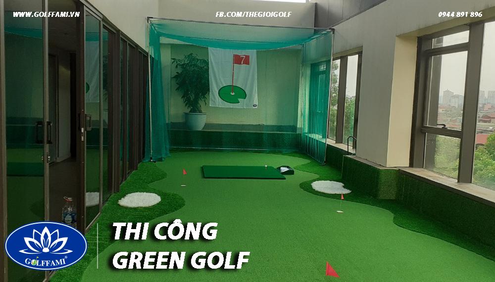 dự án thi công sân tập golf mini