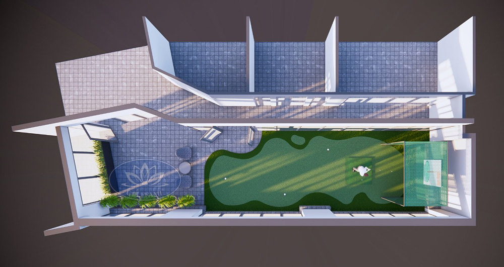 thiết kế sân golf mini