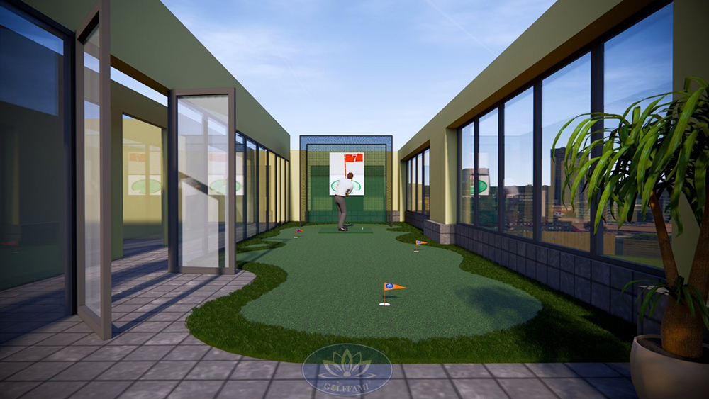 bản thiết kế sân tập golf mini
