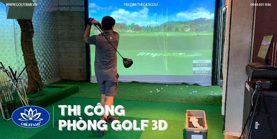 phòng golf 3D tại Quảng Ninh