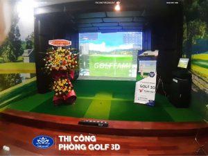 thi công phòng golf 3D tại quảng bình