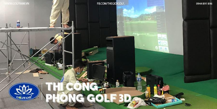 thi công chuỗi phòng golf 3D - TAT Golf