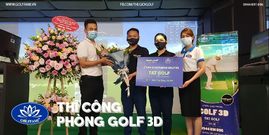bàn giao phòng golf 3D tại Trần Thái Tông