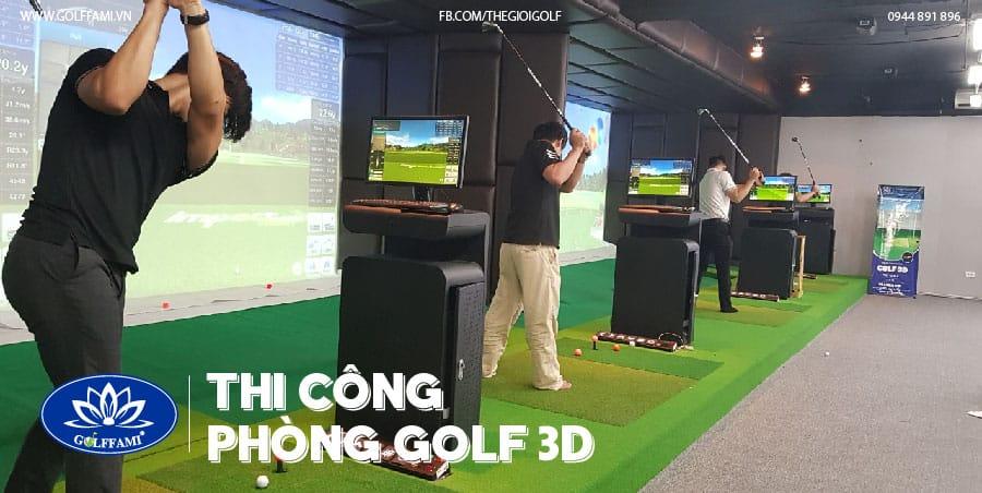 phòng golf 3D tại Trần Thái Tông