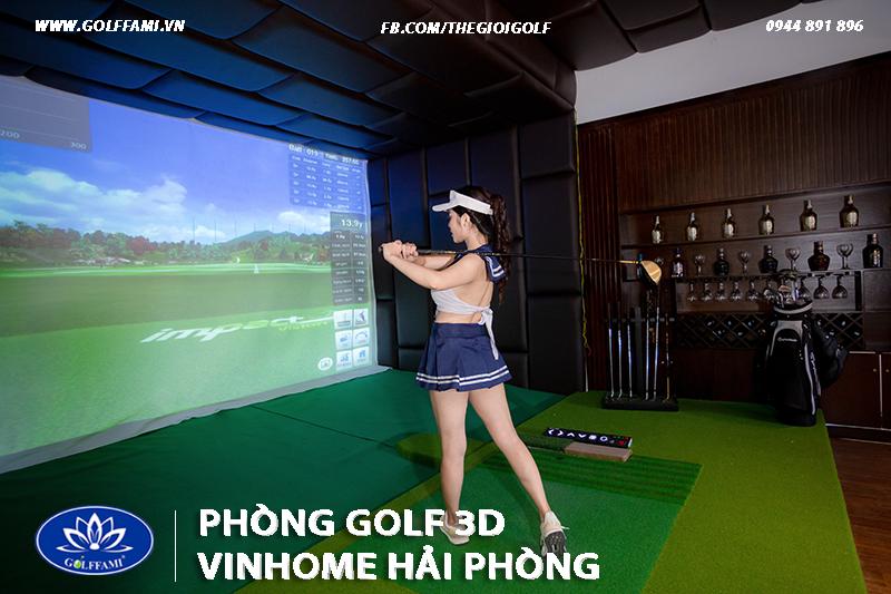 Phòng golf 3D tại VinHome Hải Phòng