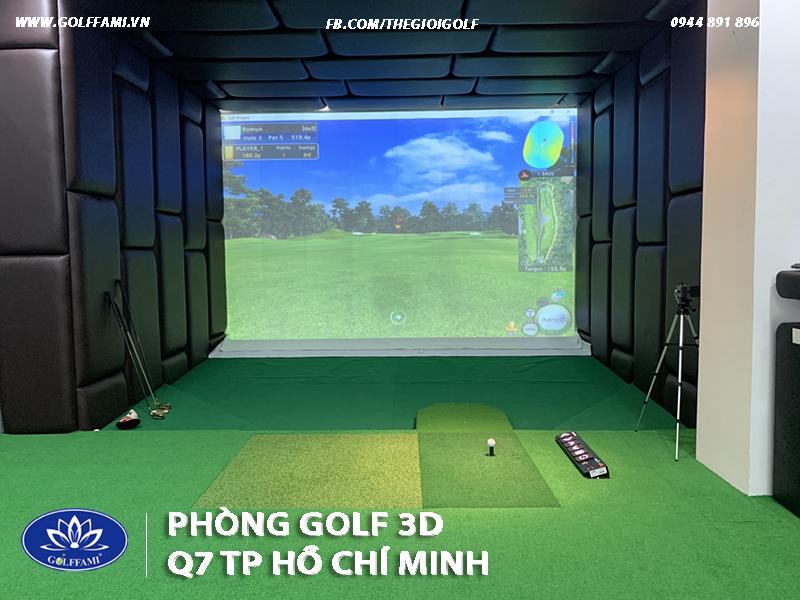 Thi công phòng golf 3d Quận 7 Hồ Chí Minh