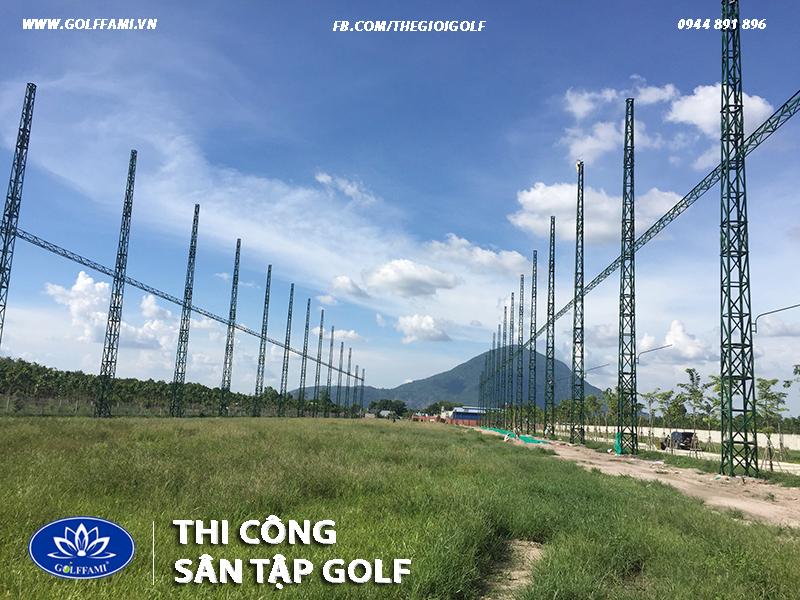Thi công sân tập golf Mai Anh